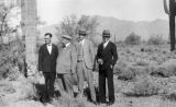 Photograph of (left to right) Frank Cheney, Governor George W. P. Hunt, Charles McGee and Lowell...