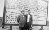 Photograph of (left to right) Governor George W. P. Hunt and Ernest Mitchell in front of a...