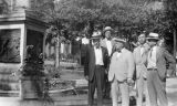 Photograph of (left to right) A. H. Favor, Utah State Representative M. F. Murphy, Governor George...