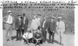 Photograph of (left to right standing) J. W. Strode, H. H. Blood, Jacob Hamblin, Governor George...