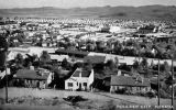 Photograph/postcard of the town of Boulder (Nev.), where laborers on Boulder Dam (Hoover Dam) were...