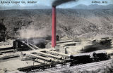 Photograph/colorized postcard of the Arizona Copper Company smelter in Clifton (Ariz.)