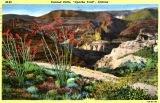Colorized artist rendering of the Apache Trail in Maricopa County (Ariz.)