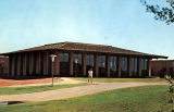 Photograph/color postcard of the library at Cochise College in Douglas (Ariz.)