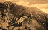 Photograph/postcard of the Longfellow Incline, a mine railroad which served the mine in...
