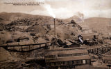 Photograph/postcard of the Arizona Copper Company works in Morenci (Ariz.)