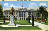 Photograph/colorized postcard of the Arizona State Capitol in Phoenix (Ariz.)