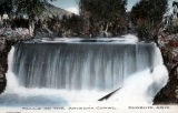 Photograph/colorized postcard of the Arizona Waterfalls on the Arizona Canal, a part of the Salt...