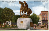 "Photograph/colorized postcard of the W.P. """"Bucky"""" O'Neill statue in front of..."