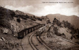 Photograph/postcard of the mine railroad on the Coronado Incline in Clifton/Morenci (Ariz.)