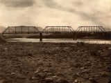 Photograph of a bridge across the Verde River in Yavapai County (Ariz.)