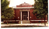 Photograph/colorized postcard of the Carnegie Library in Phoenix (Ariz.)