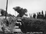 Photograph of sewer pipes constructed by the Civil Works Administration at Fowler School in...