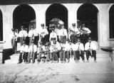 Photograph of the Ganado Mission Brass Band in Ganado (Ariz.)