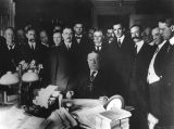 Photograph of United States President William Howard Taft signing the Arizona Statehood act in...