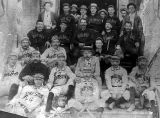 Photograph of the 1895 Tombstone and Bisbee (Ariz.) baseball teams.