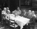 Photograph of a meeting held between state and federal officials at Williams (Ariz.).