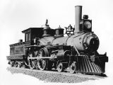 Photograph of a steam-powered locomotive, taken in Arizona