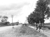 Photograph of Works Progress Administration construction of Buckeye Road in Phoenix (Ariz.)