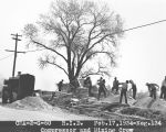 Photograph of Civil Works Administration (New Deal) road construction work on Camelback Road at...