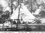 Photograph of tents at an Emergency Relief Administration camp in Prescott (Ariz.)