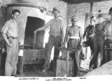 Photograph of Emergency Relief Administration blacksmiths at Fort Mohave (Ariz.)