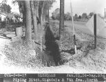 Photograph of Civil Works Administration construction on Glendale Road at 7th Avenue in Phoenix...