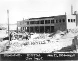 Photograph of Civil Works Administration workers building a hospital in Tempe (Ariz.)