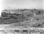 Photograph of a Civil Works Administration road hospital construction project in Tempe (Ariz.).