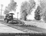 Photograph of Civil Works Administration workers paving Henshaw Road at 24th Street in Phoenix...