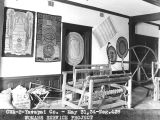 Photograph of woven articles created by Native American women as part of the Woman's Service...