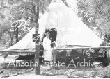 Photograph of the infirmary tent at an Emergency Relief Administration boys' camp in Arizona