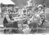 Photograph of boys peeling potatoes at an Emergency Relief Administration boys' camp in Arizona