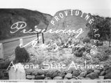 Photograph of landscaping on Arizona Highway 82, an Emergency Relief Administration project in...