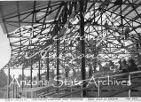 Photograph of Emergency Relief Administration construction work on the Northern Arizona...