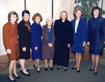 Photograph/color image of seven Arizona government officials, five of whom were being inaugurated...