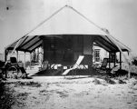 Photograph of a tent hospial, probably a tuberculosis facility, in Phoenix (Ariz.).