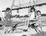 Photograph of Mohave girls playing on the Colorado River Indian Reservation (Ariz.)