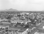 Photograph/birdseye view of downtown Phoenix (Ariz.)