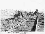 Photograph of a Southern Pacific Railroad accident at Cutter (Ariz.)