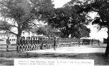 Photograph of the Sixth Cavalry and the First Infantry in parade formation at Fort Huachuca (Ariz.)