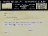Telegram with Venetia Burney's suggestion of the name Pluto for newly discovered Planet