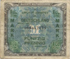 Allied Military Currency 1/2 Mark