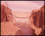 Glen Canyon Dam and Powerhouse, Arizona. Completed in 1964, this 580 ft. high concrete arch dam is...