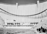 Arizona - Glen Canyon Dam & Powerhouse from water level.