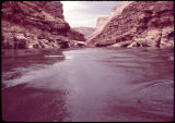 Looking upstream above Sheerwall, around mile 14.5, Colorado River, Grand Canyon. Eiseman...