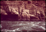 Eiseman expedition at Sheerwall Rapid, mile 14.5, Colorado River Grand Canyon. Circa 1971-74....