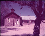 Old Adobe Schoolhouse at Duquesne, Ariz. Only 4 miles from the Mexican border in Santa Cruz...