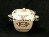 Sugar bowl with lid.