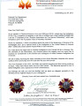 Letter of Condolence from the Austrian Association for Fire Service Fellowship, Austria